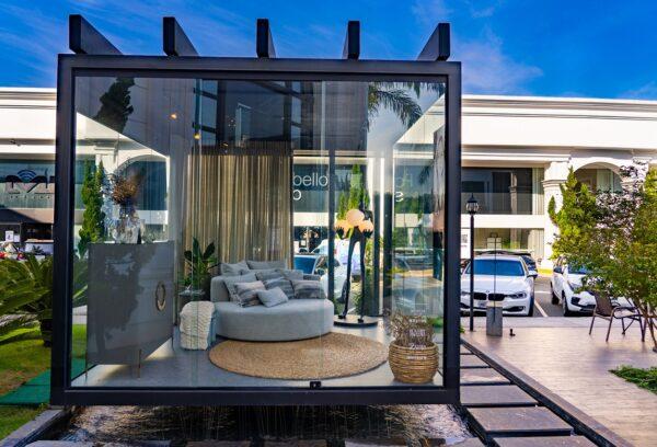 Ágata Cipriani projeta ambiente para momentos de introspecção na vitrine do Cubo Select